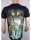 T-Shirt Rock Chang Imprimé Le Loup D'alaska