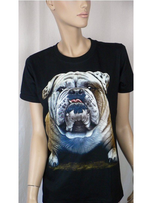 T-Shirt Femme Imprimé Animaux Chien
