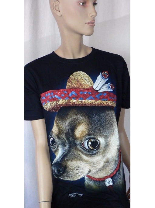 T-Shirt Femme Imprimé Chihuahua