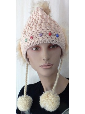 très beau bonnet a maille original coloré et chaud