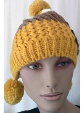 Bonnets femme fantaisie en maille et coloré