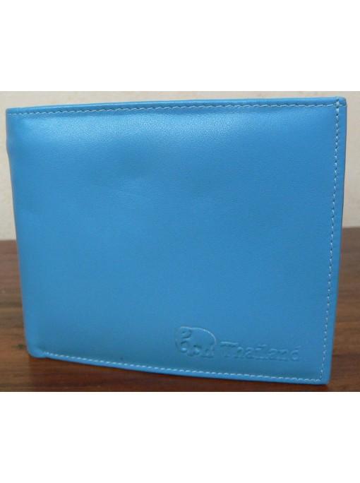 Porte Feuille homme tout cuir couleur blue