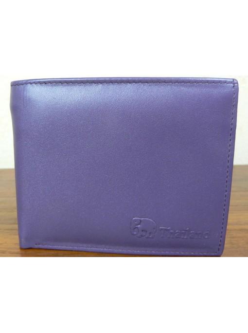 Porte Feuille homme tout cuir couleur violet