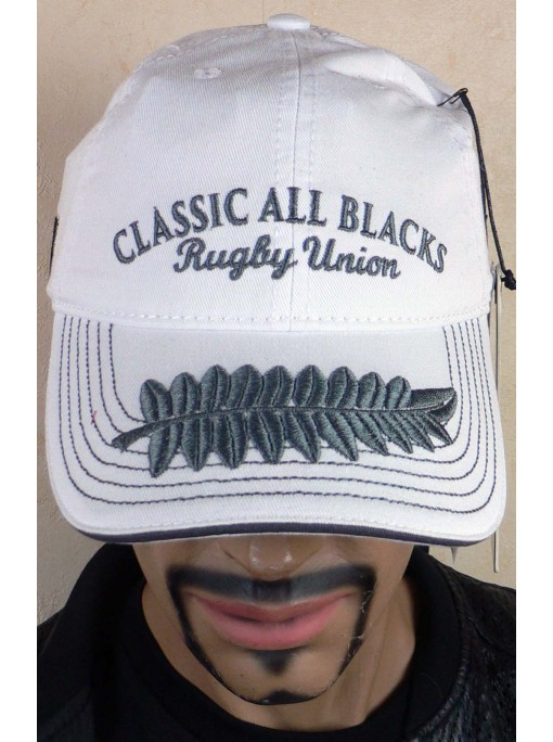 Casquette rugby classic all black blanche