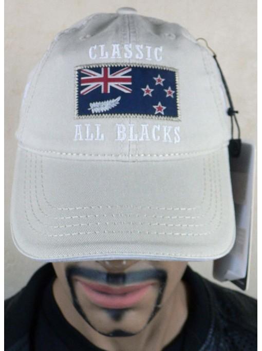 Casquette rugby classic all black beige