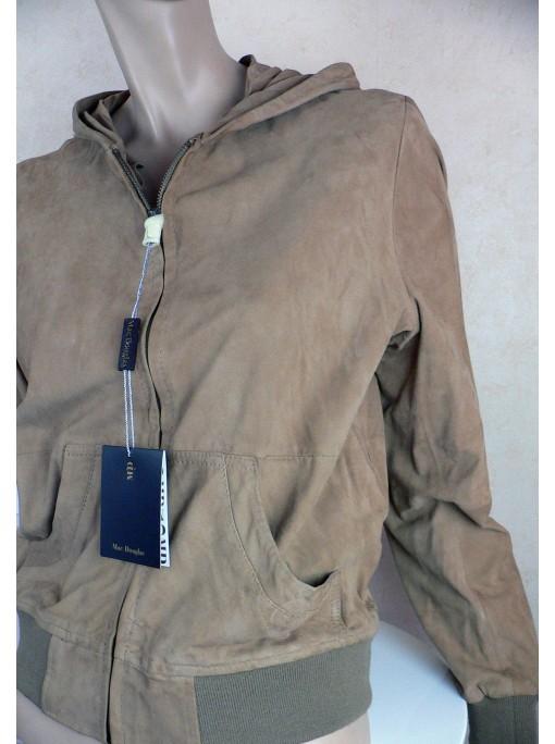 veste femme cuir mac douglas chèvre velours