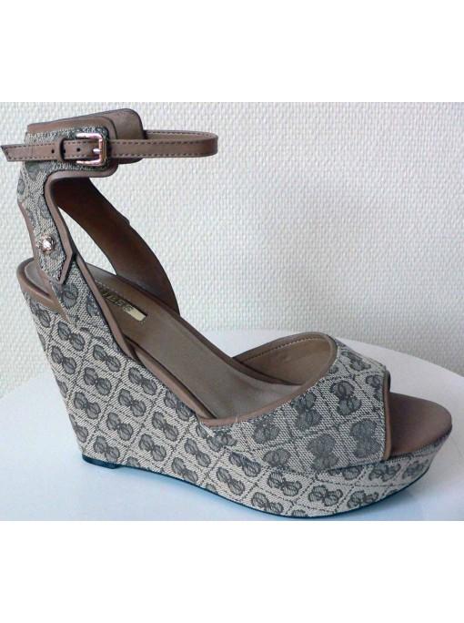Chaussure Femme Compensée Beige