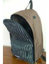 sac a dos tagger backpack marron bavette noir rayure