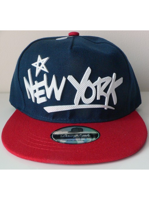 Casquette New York couleur bleu rouge style base ball