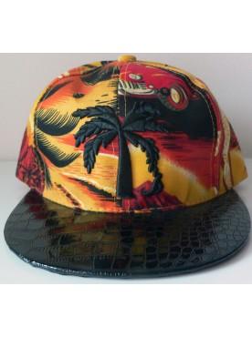 Casquette homme hiphop imprime palmiers