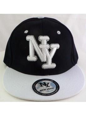 Casquette New York couleur noir logo blanc
