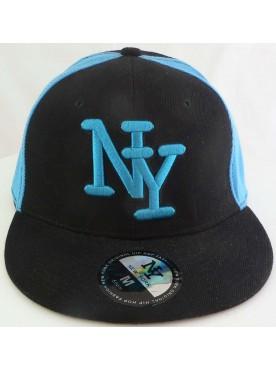 Casquette New York couleur noir turquoise