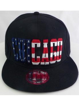 Casquette Chicago drapeau USA