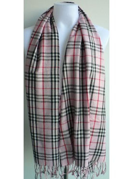 pashmina-écharpe en cachemire rose