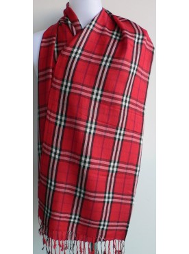 pashmina-écharpe en cachemire rouge