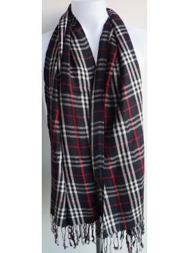 pashmina-écharpe en cachemire noire