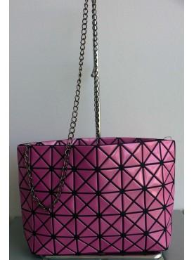 sac messenger petit sac de soirée de mode simili-cuir vernis et simili-cuir losanges rose