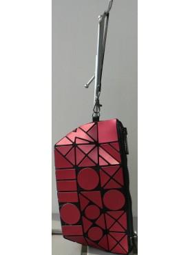 sac petit sac de soirée de mode simili-cuir vernis et simili-cuir losanges rouge