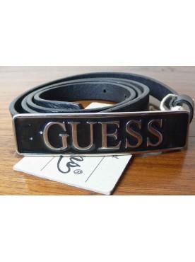 ceinture guess en cuir véritable noir