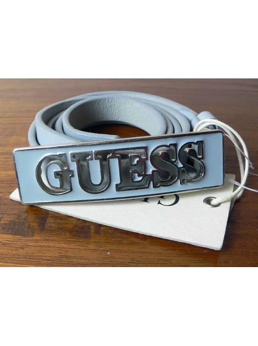 ceinture guess en cuir véritable grise
