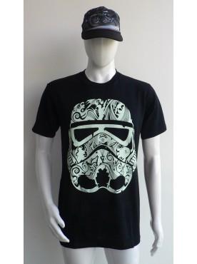 t-shirt col rond imprimé du masque star wars bandana