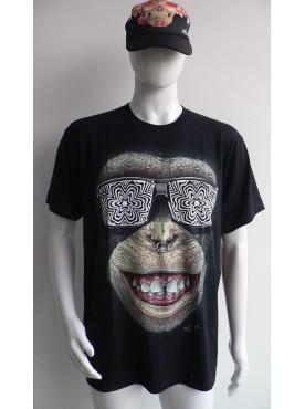 T-Shirt Rock Chang Imprimé Du Singe