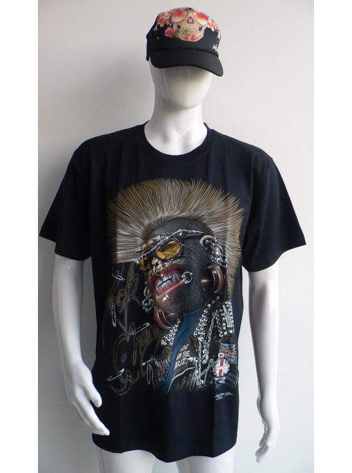 très beau t-shirt en 3 D imprimédu singe rock