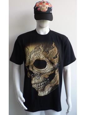 T-Shirt Rock Chang Imprimé skull tête de mort
