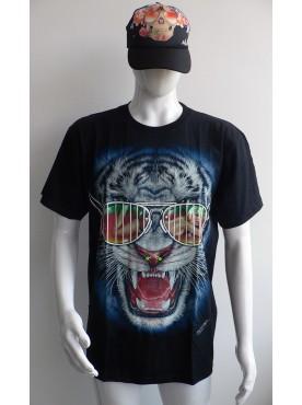 T-Shirt Rock Chang Imprimé Du Tigre Blanc a luette