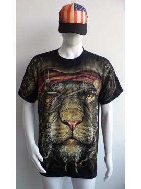 T-Shirt Rock Chang Imprimé Du lyon pirate