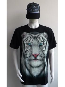 T-Shirt Rock Chang Imprimé Du Tigre Blanc