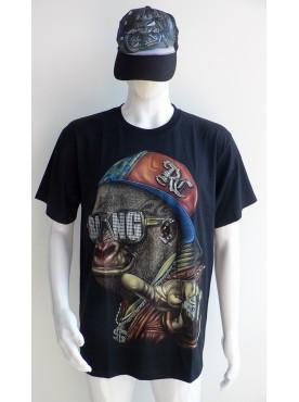 T-Shirt Rock Chang Imprimé Du Singe Rock hip hop