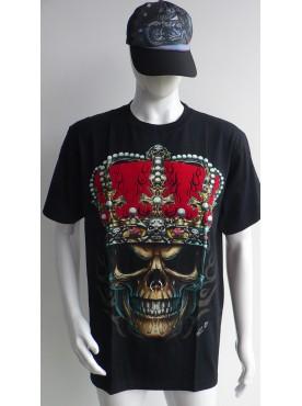 T-Shirt Rock Chang Imprimé le roi avec sa couronne