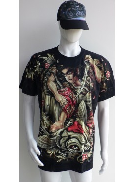 T-Shirt Rock Chang Imprimé ronin carpe koii