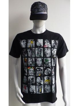 T-Shirt bob marley reggae légend en 3 D