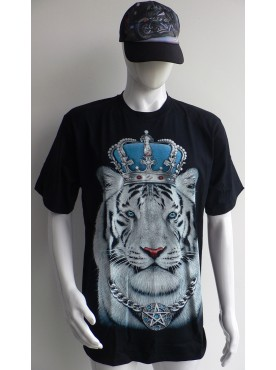T-Shirt Rock Chang le Tigre Blanc roi