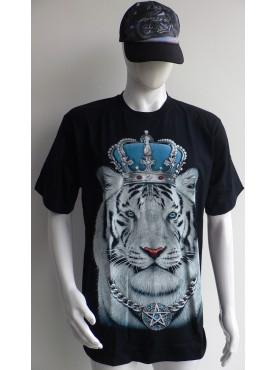 T-Shirt Rock Chang le Tigre Blanc roi