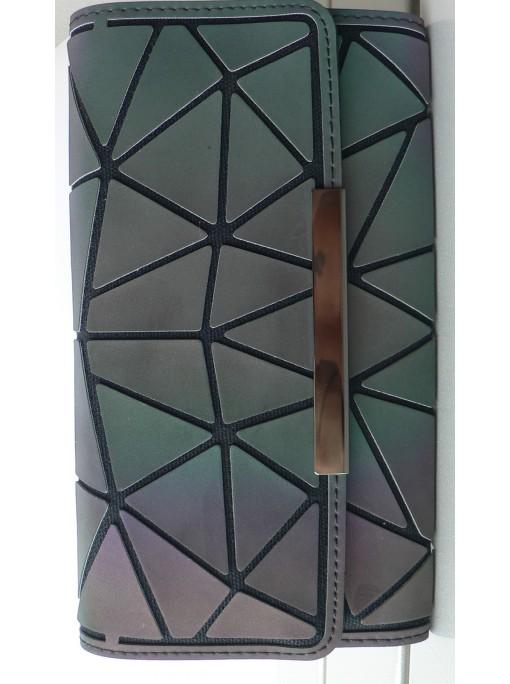 Porte Feuille Compagnons noir avec des reflets losange