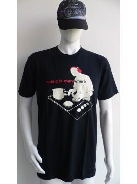 t-shirt imprimé DJ music platine
