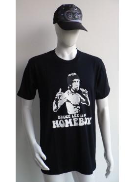 t-shirt noir homme bruce lee homeboy