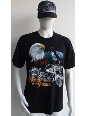 T-Shirt Rock Chang Imprimé d'un aigle