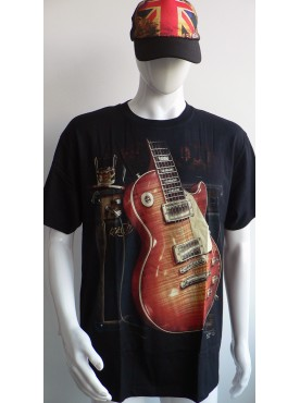 T-Shirt Rock Chang Imprimé guitar