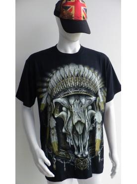 T-Shirt Rock Chang Imprimé du symbole indien