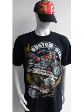 T-Shirt Rock Chang Imprimé custom bike freedom riders