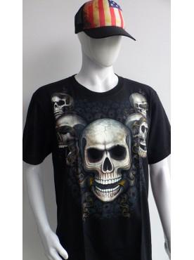 T-Shirt Rock Chang Imprimé de têtes de mort