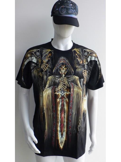 T-Shirt Rock Chang Imprimé crown king gothic horror