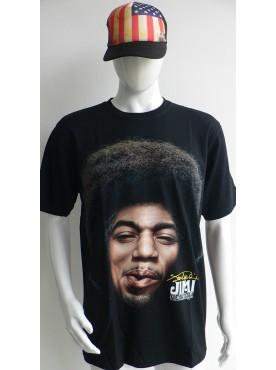 T-Shirt homme noir jimihendrix légend en 3 D