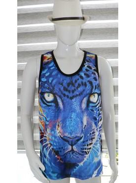 débardeur homme imprimé le tigre bleu