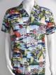 chemise fluide manches courtes imprimées carpes koii
