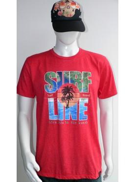 t-shirt de surf homme rouge